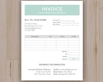 Receipt Template Etsy - Etsy invoice template