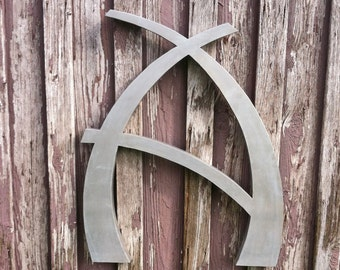 """Custom 36"""" Letter A Modern, Decorative Metal Letter, Personalized Wall Decor"""
