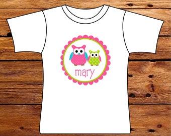 Personalized Owl Tshirt