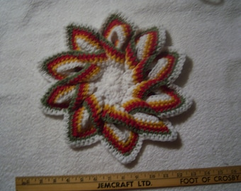 Crocheted Acrylic Candle Mat