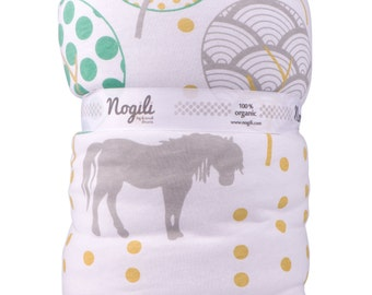Dotony Baby Play Blanket / baby crib blanket with filling organic cotton, baby shower gift