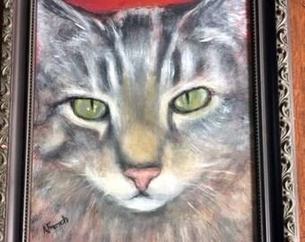 Portrait of a Tabby Cat Original Painting