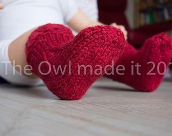 Baby socks, thick wool socks, alpaca socks, kids Christmas socks, baby boy, baby girl, hand knitted socks, kids fall, UK seller