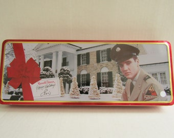 Russell Stover Happy Holidays Elvis Tin
