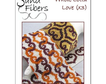 Peyote Pattern Collection - Whole Lotta Love Peyote Cuffs / Bracelets  - A Sand Fibers For Personal/Commercial Use PDF Pattern Collection