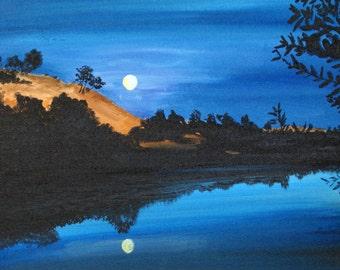 Night on the American River, Coloma, CA