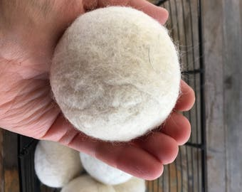 Dryer Balls - Natural Wool, medium