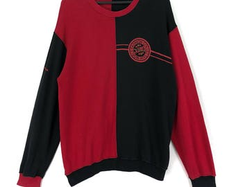 Mr. Junko Koshino Sweatshirt Jumper Block Color Streetwear Japanese Designers Clothing Large Size On Tags Chest 23.5""