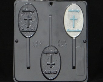 First Holy Communion Lollipop Chocolate Candy Mold Religious 422