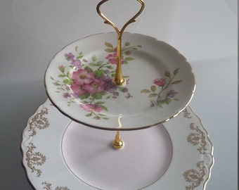 cake stand, 2 tier, afternoon tea stand