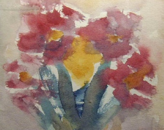 Flower Painting, Watercolor Flower Painting, Flowers, Modern Painting