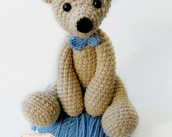 Teddy the bear, anti-allergic, amigurumi, crochet