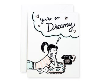 So Dreamy Letterpress Love Card