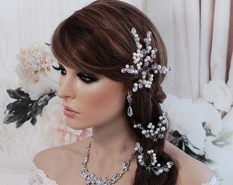 Bridal Wedding Hair Pin Wedding Crystal Bridesmaid Headpiece Bride Hair Accessories Party Prom Hair Head Piece Accessory Bride Comb