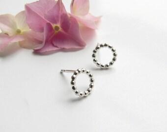 Petite Earrings Beads Silver