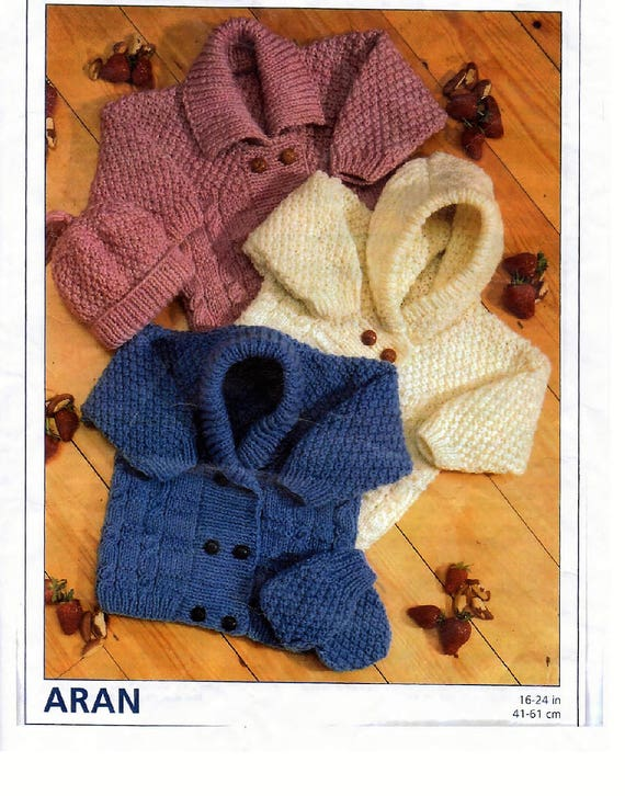 Instant Download Pdf Knitting Pattern Cardigansjackets Hat And