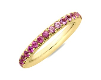 Pink Sapphire Band