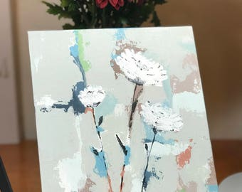 Original Hand Painted, Abstract, Flowers Palette Knife Painting