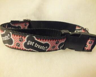 Got Treats? pet collar 13 - 21 inches