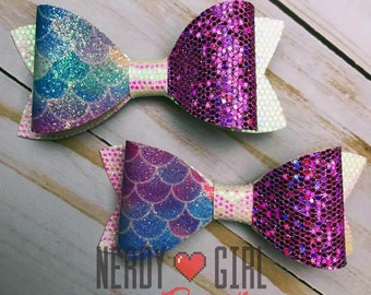 Mermaid Bows Faux Leather