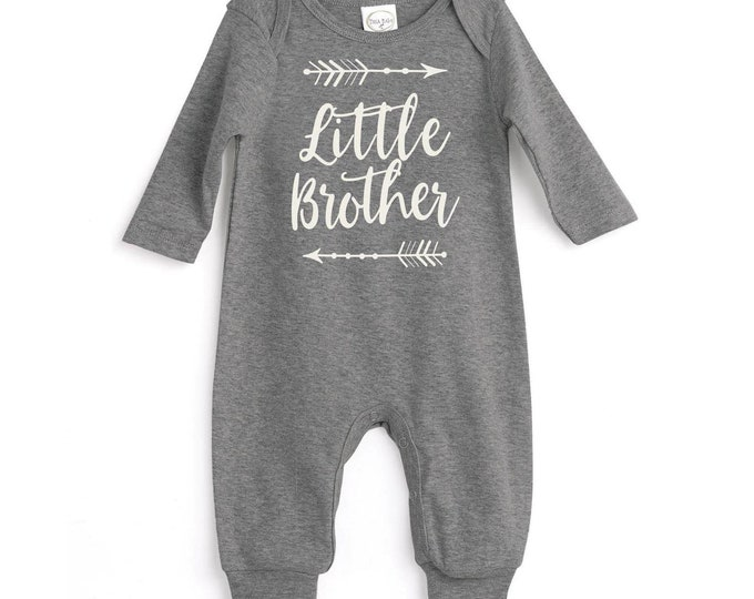 Little Brother Take Home Romper, Baby Boy Coming Home Onesie, Baby Little Brother Bodysuit, Little Brother Baby Outfit, Tesa Babe