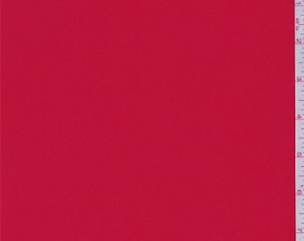Vibrant Red Double Georgette, Fabric By The Yard