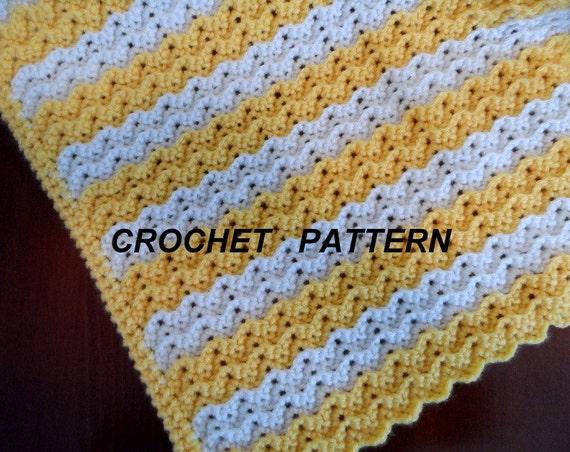 Baby Blanket Crochet Pattern Petite Ripple Toddler Afghan