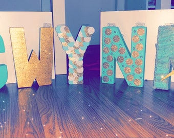 Hand crafted custom letter