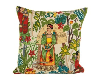 Frida Kahlo Garden Pillow