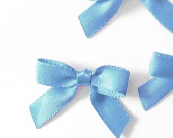 12/24/48/100 Light Blue Mini Handmade Bows