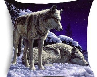Wolf Pillow Cover