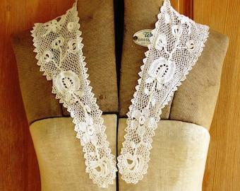 Vintage Lace Collar, Antique Lace Collar Victorian Era, Prairie Chic, Mori Girl
