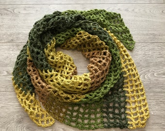 Recycled Green Triangle Scarf