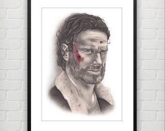 Rick Grimes Fine Art Print
