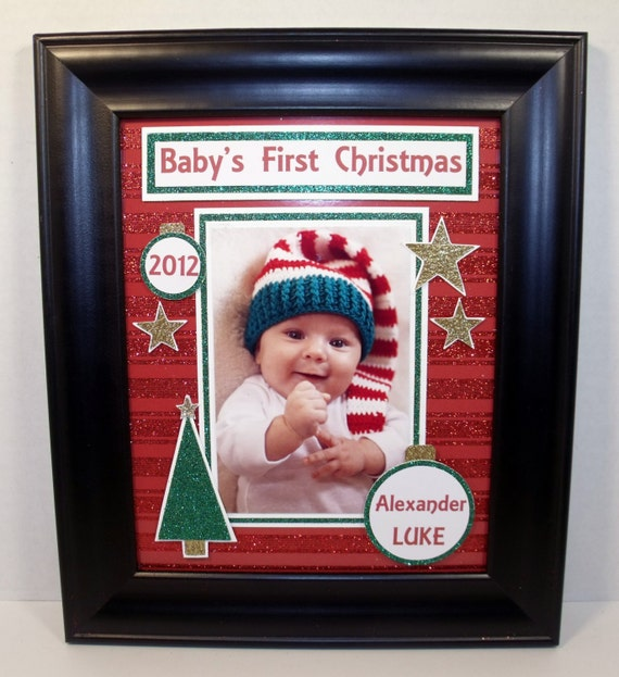 Baby\'s First My First Christmas Picture Frame Free