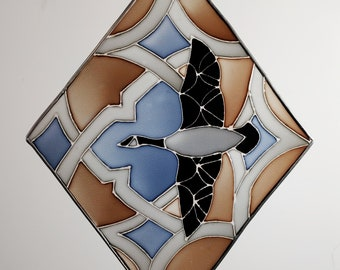 Goose stained glass - made to order