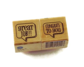Mini  Rubber Stamp Set  -  great job!!! / congrats to you