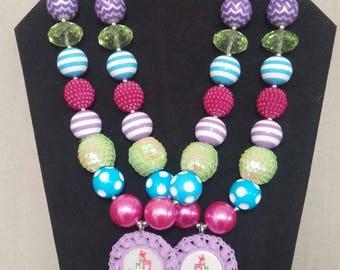 Sisters Bubblegum Necklace Set