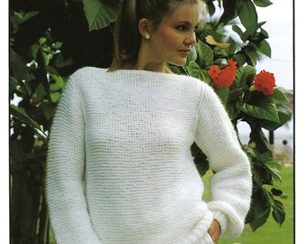 Vintage Ladies Sweater, Knitting Pattern, 1960/1970 (PDF) Pattern, Hayfield 1859