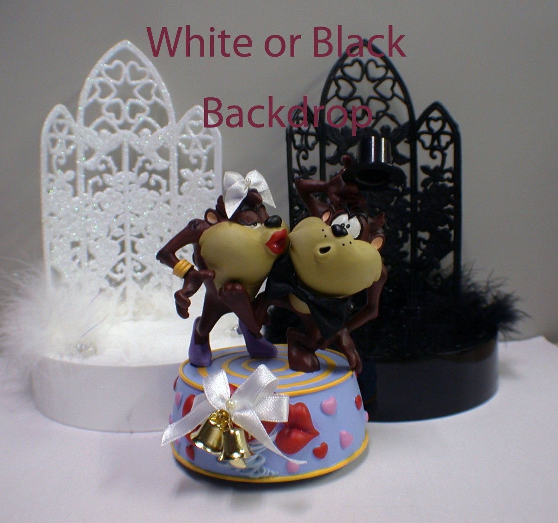 Tasmanian Devil Taz Wedding Cake Topper Groom Top White Or # Taz Muebles De Oficina