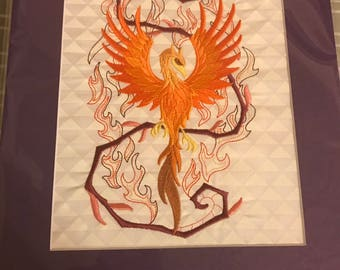 Phoenix Embroidered Art