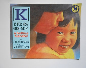 K Is For Kiss Good Night, a Vintage Children's Alphabet Book
