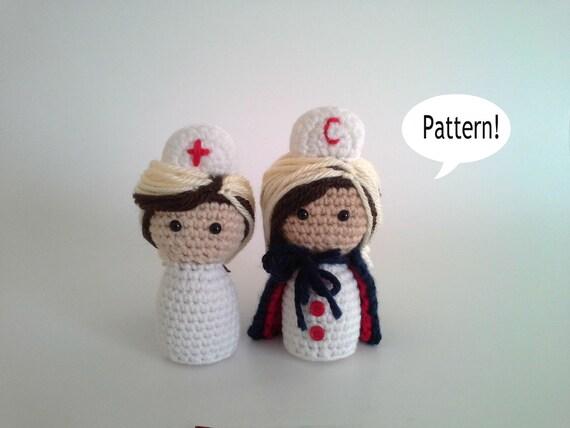 Muster-Krankenschwester Krankenschwester häkeln Amigurumi