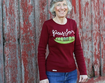 Peas and Love Women's Fair Trade Long Sleeve Tee
