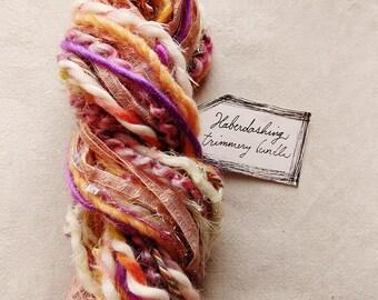 Little Girly pink lilac cream pastel twist trim Novelty Fiber Yarn Ribbon Sampler Bundle