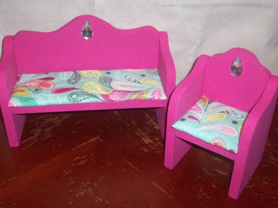Customize: Wooden Doll Furniture Living Room Chair and Couch