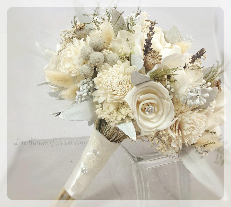 Dried & Preserved Flower Wedding Bouquet alternative bridal