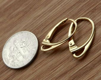 Top Quality, Vermeil, 24k, Gold Over, Sterling Silver, Lever Back, Leverback, Findings, Earrings, Earwires