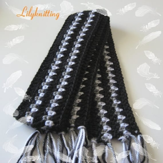 Pattern In Pdf Crocheted Doll Scarf With A Flower For