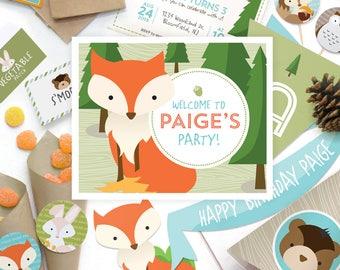 Little Animals, Forest Creatures, Rabbit, Bunny, Owl, Fox, Squirrel, Chipmunk, Teddy Bear, Kids Birthday Party Decorations